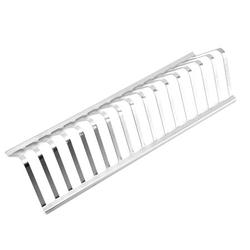 Barbecue Grill 430 Stainless Steel BBQ Stand 12 inch Barbecue Rack Portable BBQ Holder Durable Barbecue Accessories with 16 Slots