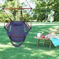 Hammock Chair Swing Seat Indoor Outdoor Garden Patio Yard Single Hanging Rope Blue