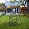 Zimtown Outdoor Rocking Chair,Iron Rocking Rocker Chair Single Chair in Outdoor Patio Backyard Park