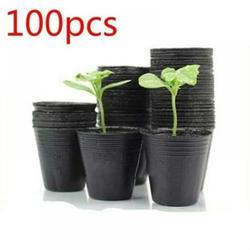 Patgoal 100pcs Gardening Pots Planters & Accessories/Seed Starter Tray/Flower Pots/Succulent Planters/Nursery Pots/Tomato Planter/Garden Pots/Peat Pots/Planting Pots/Greenhouse Plastic/Seed Starter