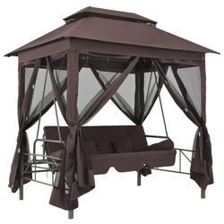 WALFRONT Gazebo Swing Chair Coffee