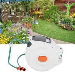Brrnoo Garden Hose Reel Wall Mounted Retractable Garden Water Hose Reel with 20m Pipes Watering Equipment,Pipe Reel,Retractable Hose Reel