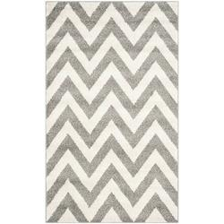 Amherst Collection AMT419P Navy and Beige Indoor/ Outdoor Area Rug (6' x 9'), feet fibers SG1807070 rug CY6918268 CY6914268 CY852236822 polypropylene.., By Safavieh Ship from US