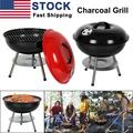 2021 NEW Portable Charcoal Grill for Outdoor 14 inch Barbecue Grill and Smoker Heat Control Round BBQ Kettle Outdoor Picnic Patio Backyard Camping Tailgating Steel Cooking Grate for Steak Chicken