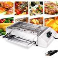 Commercial Electric Smokeless Barbecue Oven Grill Non-Stick Cooking Surface Indoor Grill Power Grill Equipment for BBQ 2800W