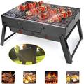 Charcoal Grill, Portable Barbecue Grill Folding BBQ Grill, Foldable Barbecue Grill,Outdoor Grill Tools for Camping Hiking Picnics Traveling 17''x9''x12''