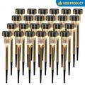 Solar Lights Outdoor, 24 Pack Stainless Steel Outdoor Solar Lights - Waterproof, LED Landscape Lighting Solar Powered Outdoor Lights Solar Garden Lights for Pathway Walkway Patio Yard