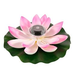 HOTBEST 1/2/3PCS Solar Powered LED Lotus Flower Light Floating Fountain Pond Garden Pool Lamp