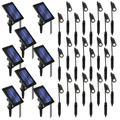 Home Zone Security Outdoor Black Solar Spotlight w/ Auto-On Sensor & Flexible Neck for Landscape, Yard, Walkway, Garden & Driveway (24 Pack)