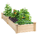 Yaheetech Raised Garden Bed Kit - Wooden Elevated Planter Garden Box for Vegetable/Flower/Herb Outdoor Solid Wood 2x8ft