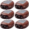 Solar 3-Lumen Red Lava Rock Light w/ Integrated LED (6-Pack)
