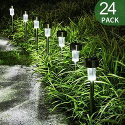 24 Pack Solar Lights Outdoor, Waterproof Solar Lights Outside Outdoor Solar Lights for Garden Light Driveway Path Pond Pathway Walkway Patio Yard Lawn Landscape Lighting