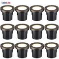 LEONLITE 12-Pack 6W LED Well Light for Yard, Garden, Patio, 12-24V Low Voltage Flat Top In-Ground Lighting, 3000K Warm White, UL Listed Cable, IP67 Waterproof Landscape light