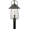 Outdoor Post 1 Light With Oil Rubbed Bronze Clear Solid Aluminum Medium Base 22 inch 100 Watts