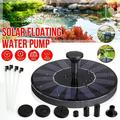 Solar Fountain Water Pump for Mini Solar Powered Fountain Pump 1.4W Free Standing Solar Panel Kit Water Fountain for Garden