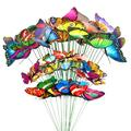 50 PCS Butterfly Stakes and Dragonfly Stakes, 10 inch Waterproof Garden Ornaments Stakes, Waterproof Butterfly Garden Decorations for Indoor, Outdoor Yard, Patio Plant Pot, Christmas Decoration