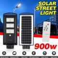 Bestgoods 900W Solar Street Lights Outdoor Lamp, LED Solar Street Light, IP67 Waterproof 576 LED PIR Motion Sensor Path Light Outdoor Security Area Lighting