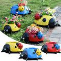 Ladybug Simulation Flower Planters Garden Pots Statues Decor Indoors Outdoors Supplies for Herb, Orchid, Peach Lily, Aloe Plant, Succulent Planters
