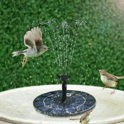 Yinrunx Solar Water Pump/Bird Bath/Solar Fountain Pump/Solar Fountain/Solar Water Fountain/Solar Bird Bath Fountains/Solar Fountain Pump for Bird Bath Submersible Outdoor Fountain Panel Kit