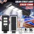 KWANSHOP 1200W 576 LED Solar Street Lights Outdoor, Dusk to Dawn Solar Led Outdoor Light with Remote Control, Daylight White Security Led Flood Light for Yard, Garden, Street, Playgroud