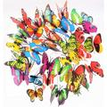 Butterfly Stakes – Garden Yard Ornaments & Patio Décor Butterflies Waterproof Butterfly Decorations for Indoor/Outdoor Planter Flower Pot Bed, 72 pcs Christmas & Party Supplies Crafts (72)