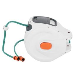 Brrnoo Wall Mounted Retractable Garden Water Hose Reel with 20m Pipes Watering Equipment,Wall Mounted Hose Reel,Hose Reel