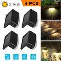 SUPERHOMUSE 4pcs Solar Deck Lights, Solar Step Lights Outdoor Waterproof Led Solar Powered Fence Lamp for Steps Decks, Patio, Stairs, Pathway, Step and Fences Solar LED Bright Deck Lights