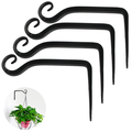 Plant holder flower hanging holder iron wall hook flower hanging wall holder hook for hanging planters birdhouses lantern wind chimes wall sconces