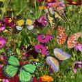 50PCS Butterfly Stakes Outdoor Yard Planter Flower Pot Bed Garden Decor Yard Art