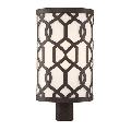 World of Lighting WL206043 Outdoor Post Light Dark Bronze Steel Denton