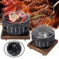 Korean Japanese Style BBQ Grill Charcoal Grill Aluminium Alloy Portable Barbecue Tools
