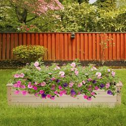 """Raised Planter Box, 48.03""""x48.03""""x10.04"""" Raised Bed Planter, Vegetable/Flower/Herb Elevated Garden Bed, Perfect for Garden, Patios, Balcony, JA2480"""