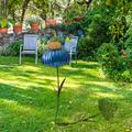 Hummingbird Feeder, Sensation Pink Coneflower Bird Feeder, Coneflower Standing Bird Feeder, Rust Resistant Garden Art Metal Birdfeeder, Indoor Outdoor Lawn Pathway Patio Ornaments