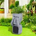 Easter Island Statue Succulent Planter Garden Resin Decoration