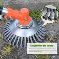 8 inch Steel Wire Grass Trimmer Wheel Trimmer Head Lawn Mower Razors Lawn Mower Eater Trimmer Dust Removal Brush Cutter Tools