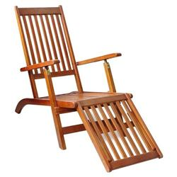 ROBOT-GXG Outdoor Deck Chair Foldable Patio Deck Garden Rest Lounge Chairs Footrest Reclining Lounger