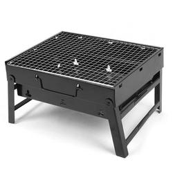 Tebru Portable Barbecue Grill,Portable Stainless Steel Folding Barbecue Grill BBQ Charcoal Grill for Camping Outdoor, Stainless Steel Barbecue Grill