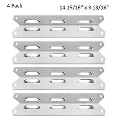 BBQ funland Stainless Steel Heat Plate Replacement Parts Burner Cover for Kenmore 4 Burner 146.16222010 146.34611410 5 Burner Grill 146.23680310 Charbroil 640-01303702-3