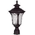 "Bronze Tone Finish Outdoor Post Cast Aluminum Outdoor Medium 19"" Long 1 Light Fixture"