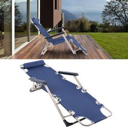 Fdit Multifunctional Folding Recliner Beach Chair Lounger Bed for Outdoor Garden Camping,Lounge Chair,Recliner