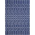 Geometric Rug - 5 ft. 3 in. x 7 ft. 6 in., Navy, Indoor/Outdoor Flat Woven Area Rug with Diamond Pattern, Stain Resistant, Waterproof Rug Stylish Area Rugs