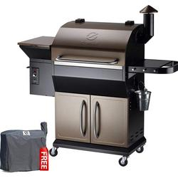 Z GRILLS 1000D Smart Wood Pellet Grill 8 in 1 Outdoor BBQ Smoker 1060 SQ Inches Cooking Area with Cabinet Barbecue Grill Bronze