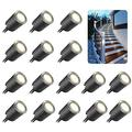Recessed LED Deck Light Kits with Black Protecting Shell ?32mm,SMY In Ground Outdoor Landscape Lighting IP67 Waterproof,12V Low Voltage for Garden,Yard Steps,Stair,Patio,Floor,Kitchen Decoration