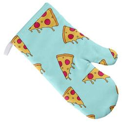Pizza Slices Pattern Oven Mitt for Indoor/Outdoor Kitchen and BBQ