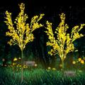 Solar Garden Lights Outdoor Decorative, Solar Flowers Lights Duskto Dawn, Solar Garden Stake Lights Waterproof IP65, Solar Powered FlowerLights for Patio, Garden, Yard, Lawn, Pathway