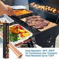 Grill Mat Copper 6 Pack, 100% Non-Stick 16x13� BBQ Grilling Baking Mats with 2 Basting Brushes Grill Mat For Gas, Charcoal, Electric Grill Reusable Grill Sheet Pad Heat Resistant Up To 716℉
