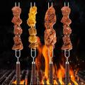 DOACT BBQ Fork, BBQ Grill Fork, Anti-Skid Handle Dinner For BBQ Barbecue
