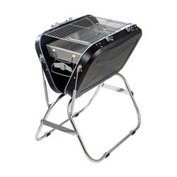 ROBOT-GXG Charcoal Grill Stainless Steel BBQ Grill Foldable Non-slip Handle Outdoor Equipment for Garden Backyard