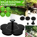 Solar Fountain Pump for Bird Bath, Mini Portable Free Standing Solar Fountain for Pond, Patio Garden(Flower Shape)