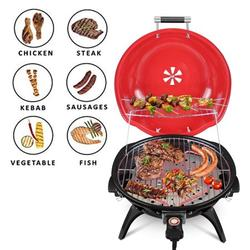Kepeak Electric BBQ Grill Indoor/Outdoor Electric Portable Grill for Indoor & Outdoor Use, Double Layer Design, Portable Removable Stand Grill, 1600W